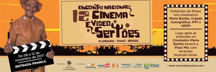 12º Encontro Nacional de Cinema e Vídeo dos Sertões – Floriano – 8 a12/11/2017