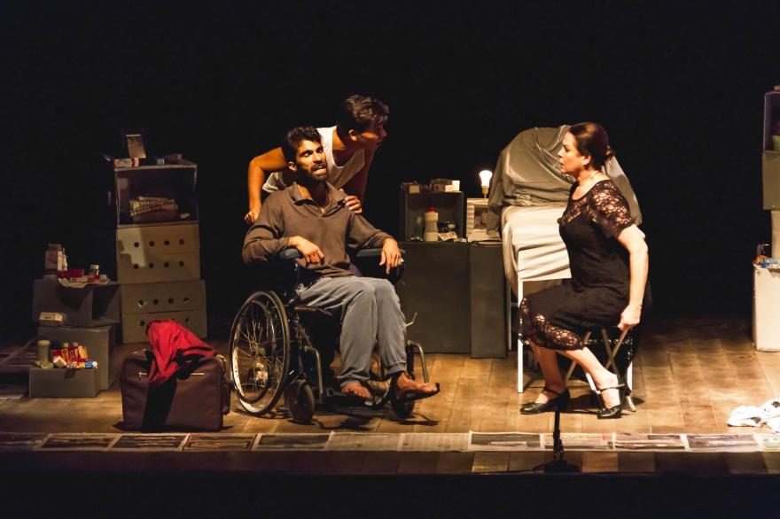 Foto dos três no palco