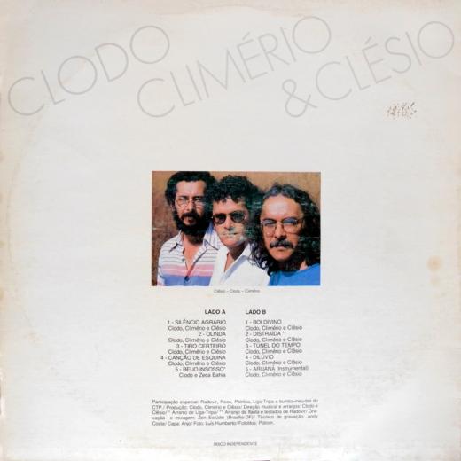 Clodo, Climério e Clésio. Contracapa.